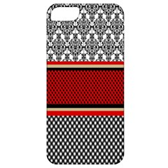 Background Damask Red Black Apple iPhone 5 Classic Hardshell Case