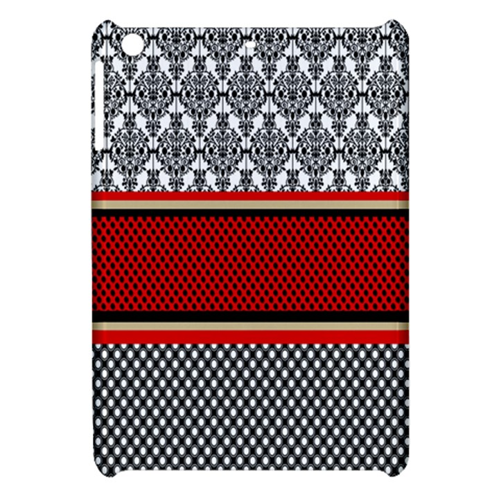 Background Damask Red Black Apple iPad Mini Hardshell Case