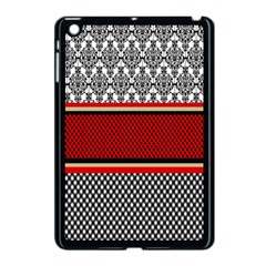 Background Damask Red Black Apple iPad Mini Case (Black)
