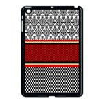 Background Damask Red Black Apple iPad Mini Case (Black) Front