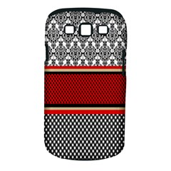 Background Damask Red Black Samsung Galaxy S III Classic Hardshell Case (PC+Silicone)