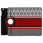 Background Damask Red Black Apple iPad Mini Flip 360 Case Front
