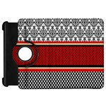 Background Damask Red Black Kindle Fire HD Flip 360 Case Front