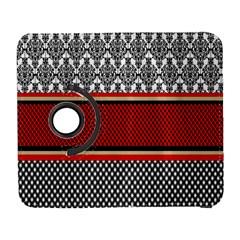 Background Damask Red Black Samsung Galaxy S  III Flip 360 Case