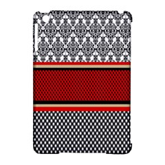 Background Damask Red Black Apple iPad Mini Hardshell Case (Compatible with Smart Cover)