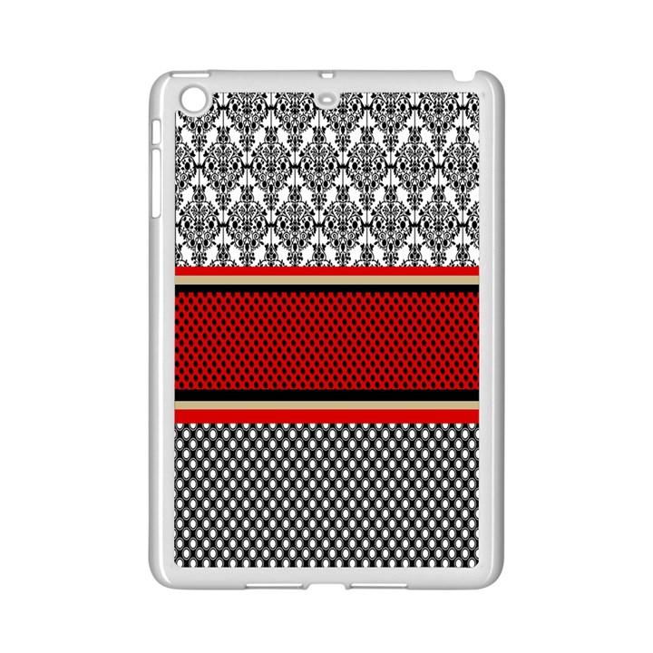 Background Damask Red Black iPad Mini 2 Enamel Coated Cases