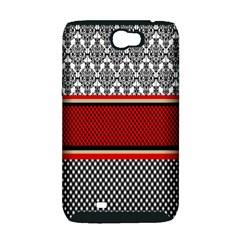 Background Damask Red Black Samsung Galaxy Note 2 Hardshell Case (PC+Silicone)