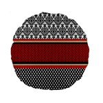 Background Damask Red Black Standard 15  Premium Round Cushions Back