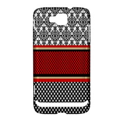 Background Damask Red Black Samsung Ativ S i8750 Hardshell Case
