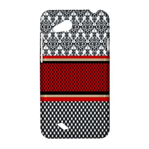 Background Damask Red Black HTC Desire VC (T328D) Hardshell Case