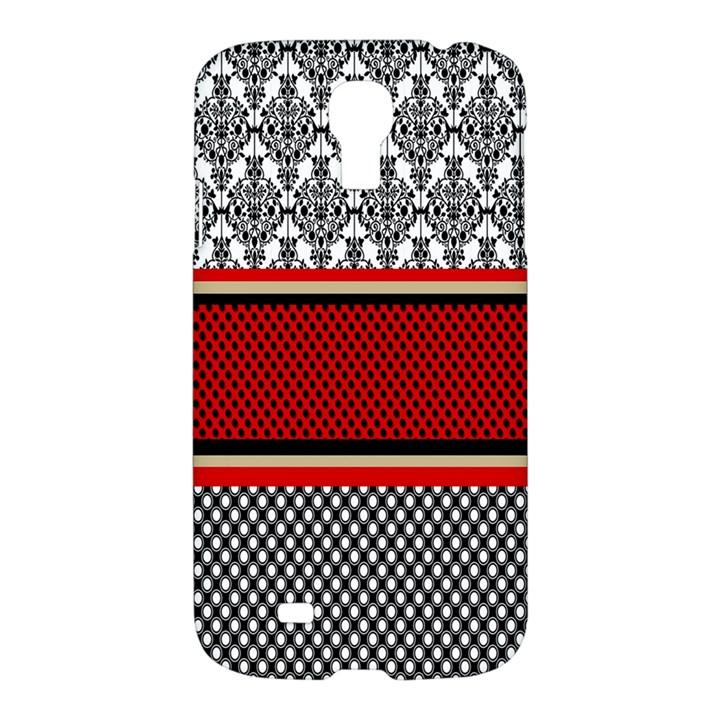 Background Damask Red Black Samsung Galaxy S4 I9500/I9505 Hardshell Case