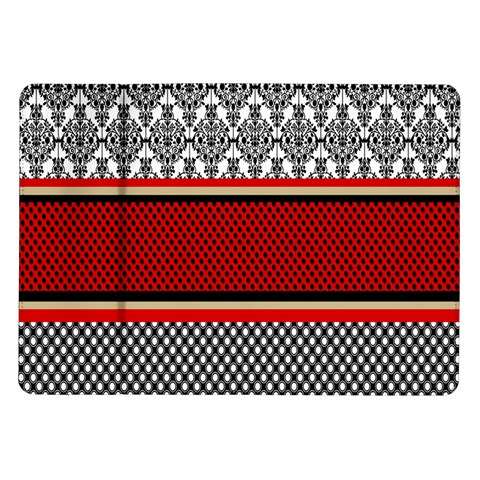 Background Damask Red Black Samsung Galaxy Tab 10.1  P7500 Flip Case