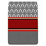 Background Damask Red Black Flap Covers (L)  Front