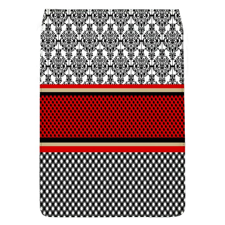 Background Damask Red Black Flap Covers (L)
