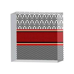Background Damask Red Black 4 x 4  Acrylic Photo Blocks