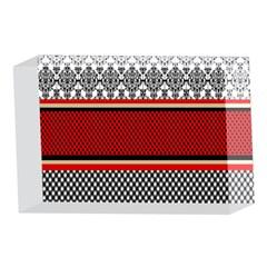 Background Damask Red Black 4 x 6  Acrylic Photo Blocks