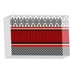 Background Damask Red Black 4 x 6  Acrylic Photo Blocks Front
