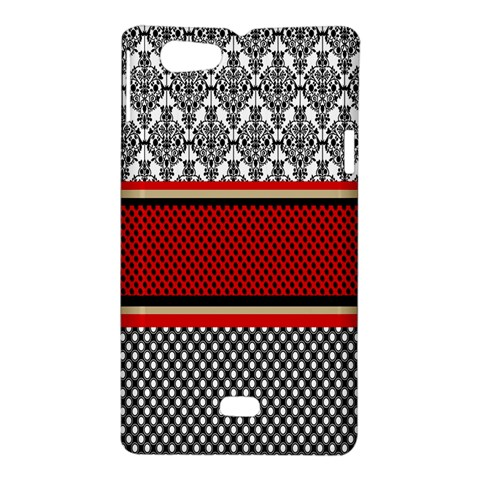 Background Damask Red Black Sony Xperia Miro
