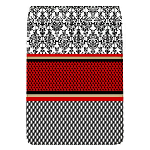 Background Damask Red Black Flap Covers (S)