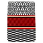 Background Damask Red Black Flap Covers (S)  Front