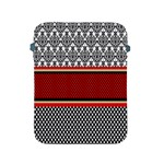 Background Damask Red Black Apple iPad 2/3/4 Protective Soft Cases Front