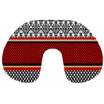 Background Damask Red Black Travel Neck Pillows Front