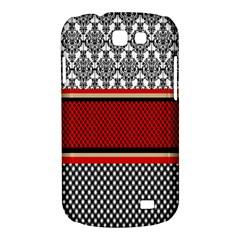 Background Damask Red Black Samsung Galaxy Express I8730 Hardshell Case