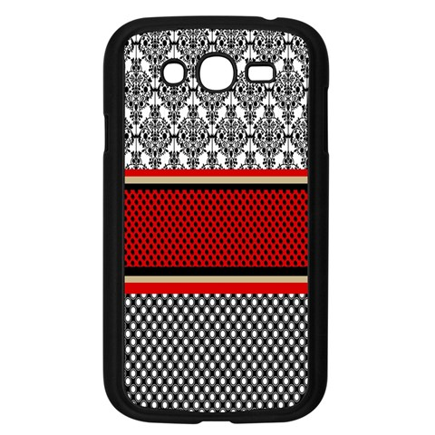 Background Damask Red Black Samsung Galaxy Grand DUOS I9082 Case (Black)