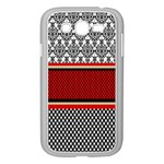 Background Damask Red Black Samsung Galaxy Grand DUOS I9082 Case (White) Front