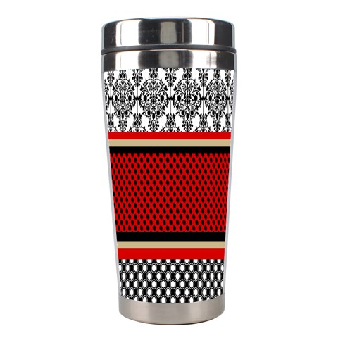 Background Damask Red Black Stainless Steel Travel Tumblers