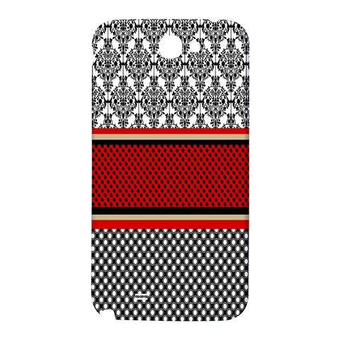 Background Damask Red Black Samsung Note 2 N7100 Hardshell Back Case