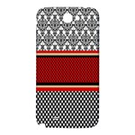 Background Damask Red Black Samsung Note 2 N7100 Hardshell Back Case Front