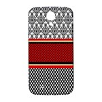 Background Damask Red Black Samsung Galaxy S4 I9500/I9505  Hardshell Back Case Front