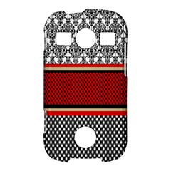 Background Damask Red Black Samsung Galaxy S7710 Xcover 2 Hardshell Case