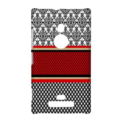 Background Damask Red Black Nokia Lumia 925