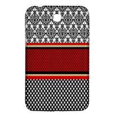 Background Damask Red Black Samsung Galaxy Tab 3 (7 ) P3200 Hardshell Case