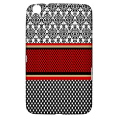 Background Damask Red Black Samsung Galaxy Tab 3 (8 ) T3100 Hardshell Case