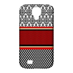 Background Damask Red Black Samsung Galaxy S4 Classic Hardshell Case (PC+Silicone)