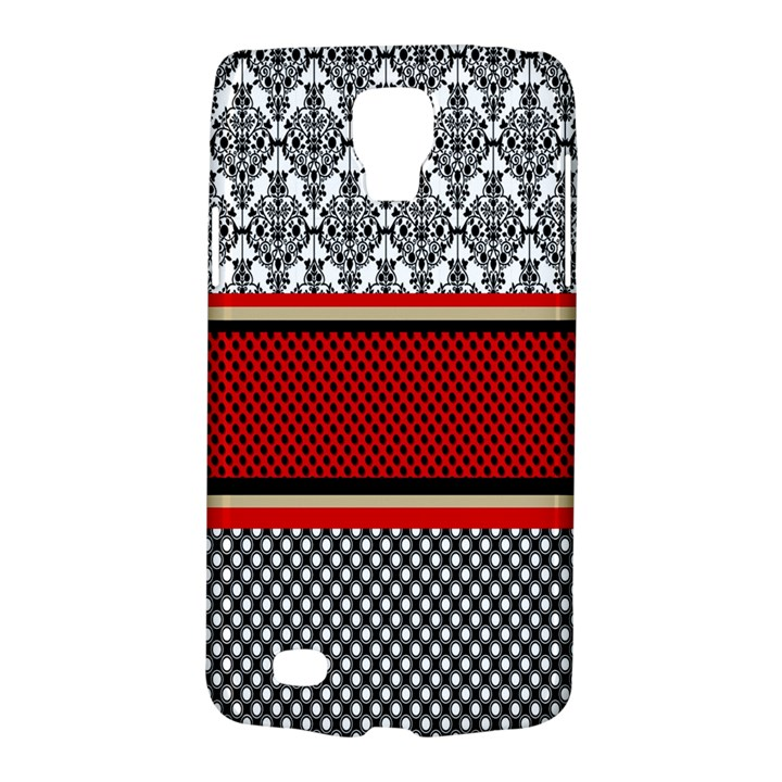 Background Damask Red Black Galaxy S4 Active