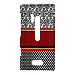 Background Damask Red Black Nokia Lumia 928