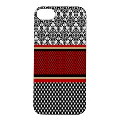 Background Damask Red Black Apple iPhone 5S/ SE Hardshell Case