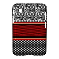 Background Damask Red Black Samsung Galaxy Tab 2 (7 ) P3100 Hardshell Case