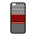 Background Damask Red Black Apple iPhone 5C Seamless Case (Black) Front