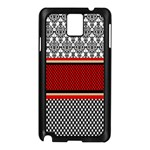 Background Damask Red Black Samsung Galaxy Note 3 N9005 Case (Black) Front