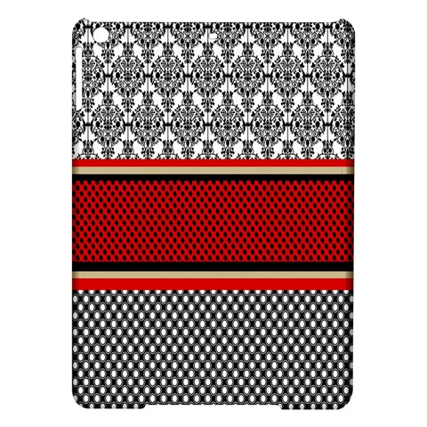 Background Damask Red Black iPad Air Hardshell Cases