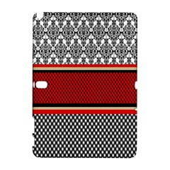 Background Damask Red Black Samsung Galaxy Note 10.1 (P600) Hardshell Case