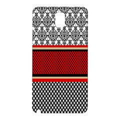 Background Damask Red Black Samsung Galaxy Note 3 N9005 Hardshell Back Case
