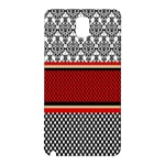 Background Damask Red Black Samsung Galaxy Note 3 N9005 Hardshell Back Case Front