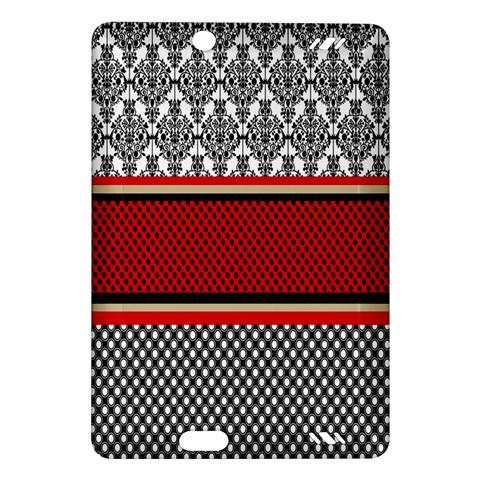 Background Damask Red Black Amazon Kindle Fire HD (2013) Hardshell Case