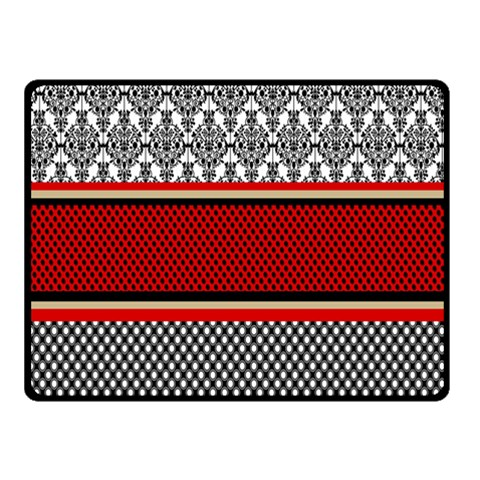 Background Damask Red Black Double Sided Fleece Blanket (Small)